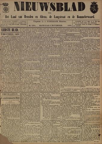 Nieuwsblad het land van Heusden en Altena de Langstraat en de Bommelerwaard 1893-11-04