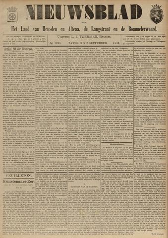 Nieuwsblad het land van Heusden en Altena de Langstraat en de Bommelerwaard 1893-09-02