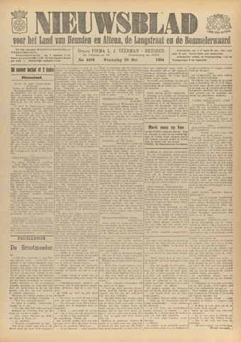 Nieuwsblad het land van Heusden en Altena de Langstraat en de Bommelerwaard 1934-05-30