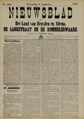 Nieuwsblad het land van Heusden en Altena de Langstraat en de Bommelerwaard 1883-08-08