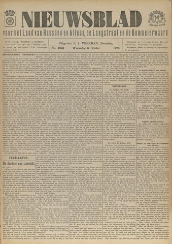 Nieuwsblad het land van Heusden en Altena de Langstraat en de Bommelerwaard 1920-10-06