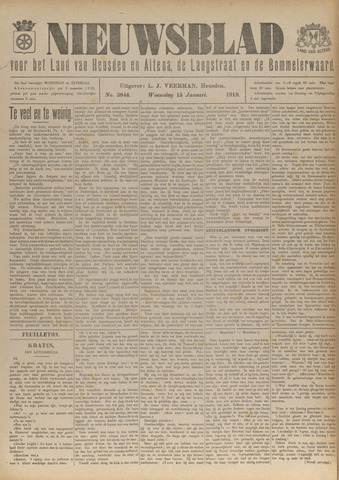 Nieuwsblad het land van Heusden en Altena de Langstraat en de Bommelerwaard 1919-01-15