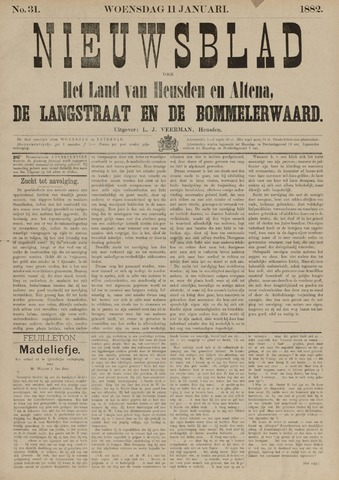 Nieuwsblad het land van Heusden en Altena de Langstraat en de Bommelerwaard 1882-01-11