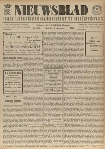 Nieuwsblad het land van Heusden en Altena de Langstraat en de Bommelerwaard 1919-11-22