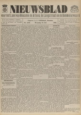 Nieuwsblad het land van Heusden en Altena de Langstraat en de Bommelerwaard 1921-07-13