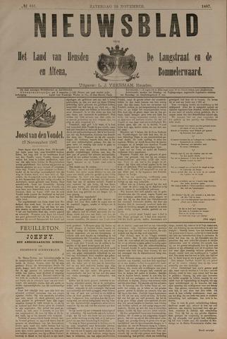Nieuwsblad het land van Heusden en Altena de Langstraat en de Bommelerwaard 1887-11-19