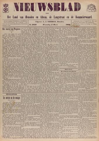 Nieuwsblad het land van Heusden en Altena de Langstraat en de Bommelerwaard 1909-03-03