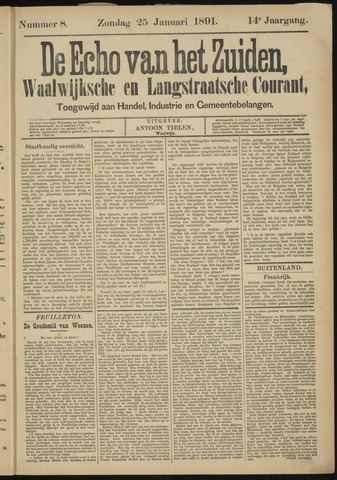 Echo van het Zuiden 1891-01-25