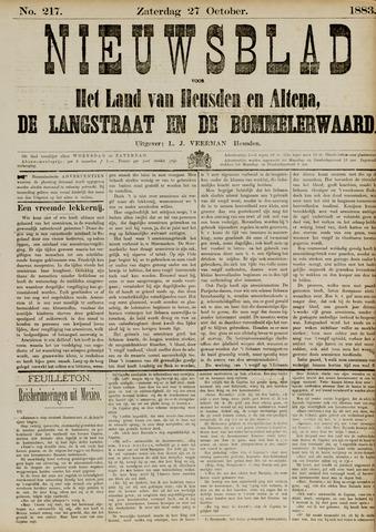 Nieuwsblad het land van Heusden en Altena de Langstraat en de Bommelerwaard 1883-10-27