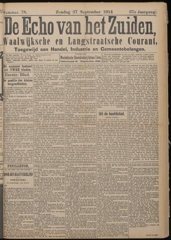 Echo van het Zuiden 1914-09-27