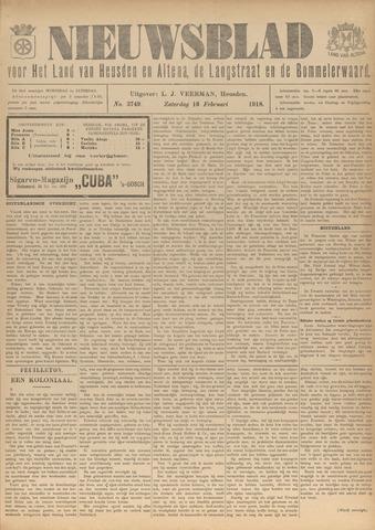 Nieuwsblad het land van Heusden en Altena de Langstraat en de Bommelerwaard 1918-02-16