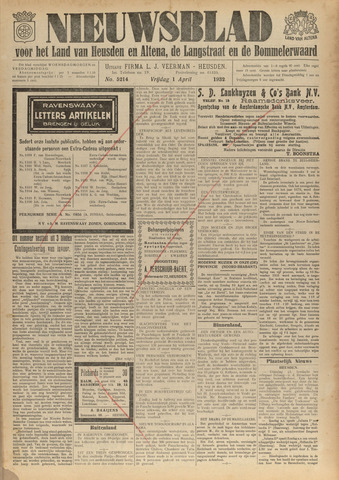 Nieuwsblad het land van Heusden en Altena de Langstraat en de Bommelerwaard 1932-04-01