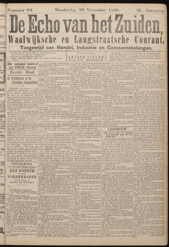 Echo van het Zuiden 1908-11-26