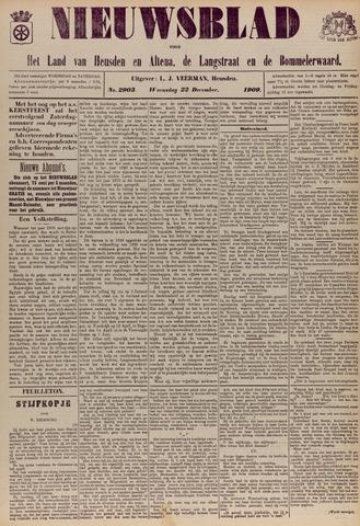 Nieuwsblad het land van Heusden en Altena de Langstraat en de Bommelerwaard 1909-12-22