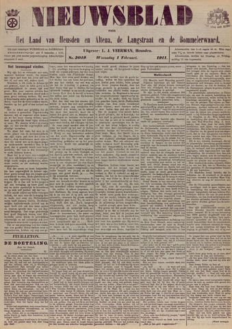 Nieuwsblad het land van Heusden en Altena de Langstraat en de Bommelerwaard 1911-02-01