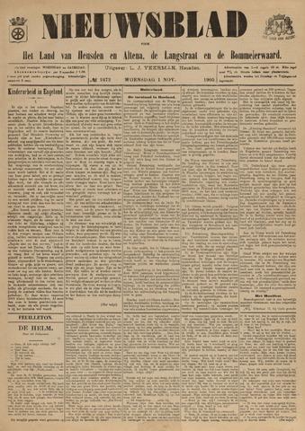 Nieuwsblad het land van Heusden en Altena de Langstraat en de Bommelerwaard 1905-11-01
