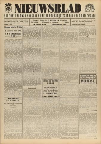 Nieuwsblad het land van Heusden en Altena de Langstraat en de Bommelerwaard 1928-08-01