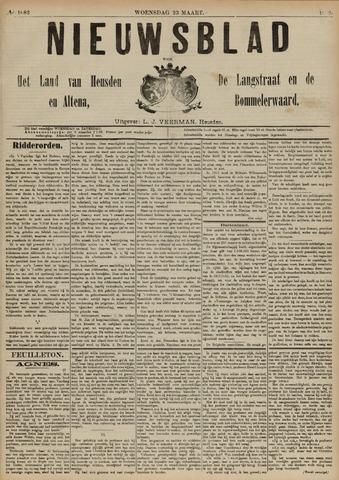 Nieuwsblad het land van Heusden en Altena de Langstraat en de Bommelerwaard 1892-03-23