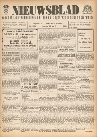 Nieuwsblad het land van Heusden en Altena de Langstraat en de Bommelerwaard 1922-04-15
