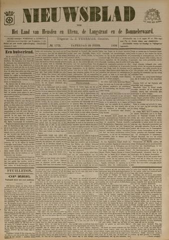 Nieuwsblad het land van Heusden en Altena de Langstraat en de Bommelerwaard 1899-02-25