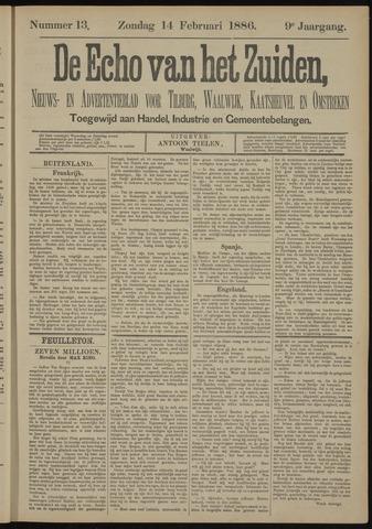 Echo van het Zuiden 1886-02-14