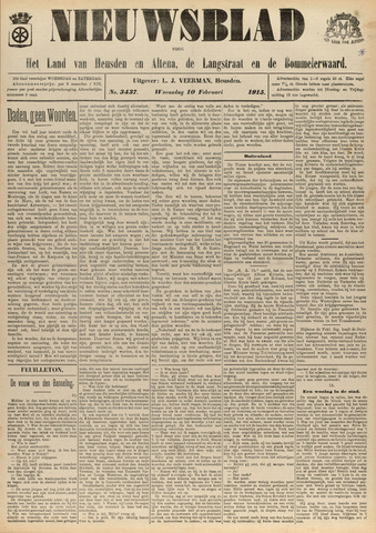 Nieuwsblad het land van Heusden en Altena de Langstraat en de Bommelerwaard 1915-02-10