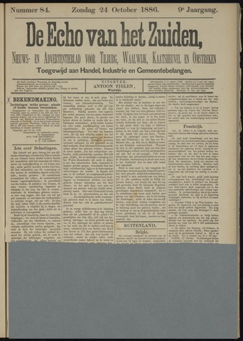 Echo van het Zuiden 1886-10-24
