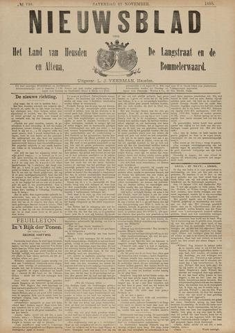 Nieuwsblad het land van Heusden en Altena de Langstraat en de Bommelerwaard 1888-11-17