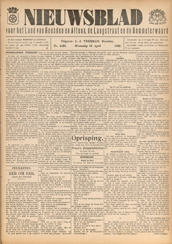 Nieuwsblad het land van Heusden en Altena de Langstraat en de Bommelerwaard 1922-04-19