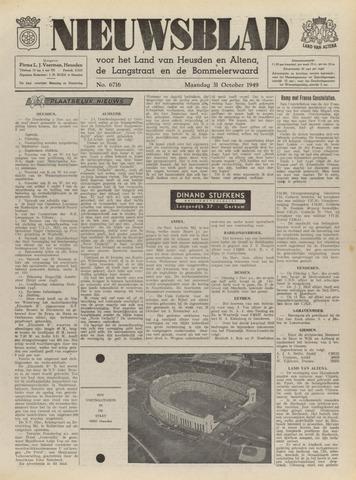 Nieuwsblad het land van Heusden en Altena de Langstraat en de Bommelerwaard 1949-10-31