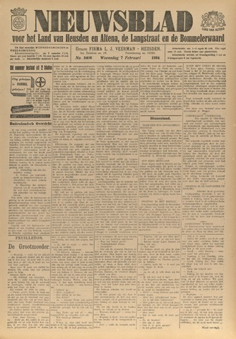 Nieuwsblad het land van Heusden en Altena de Langstraat en de Bommelerwaard 1934-02-07