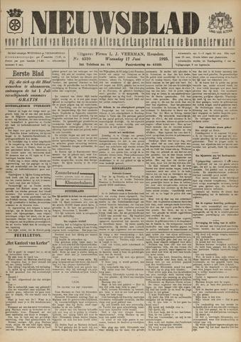 Nieuwsblad het land van Heusden en Altena de Langstraat en de Bommelerwaard 1925-06-17