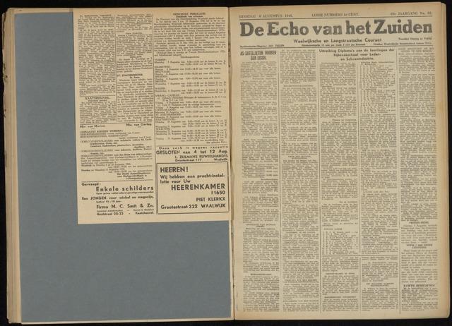 Echo van het Zuiden 1946-08-06