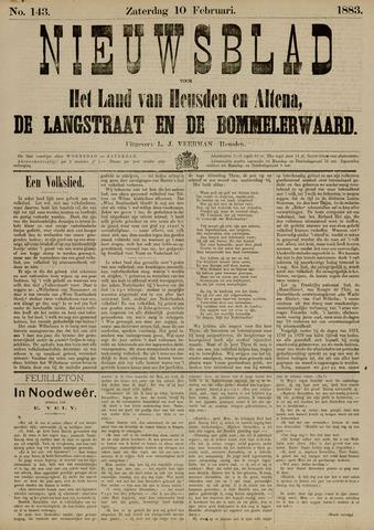 Nieuwsblad het land van Heusden en Altena de Langstraat en de Bommelerwaard 1883-02-10