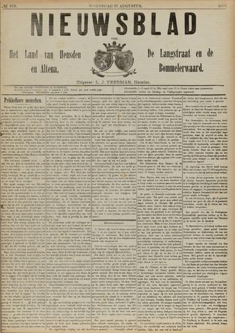 Nieuwsblad het land van Heusden en Altena de Langstraat en de Bommelerwaard 1890-08-27