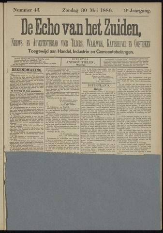 Echo van het Zuiden 1886-05-30