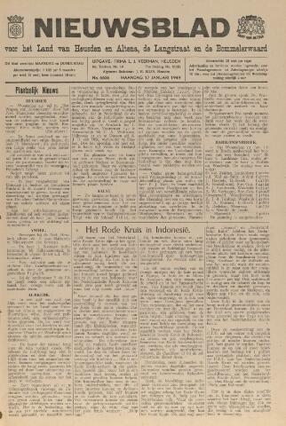 Nieuwsblad het land van Heusden en Altena de Langstraat en de Bommelerwaard 1949-01-17