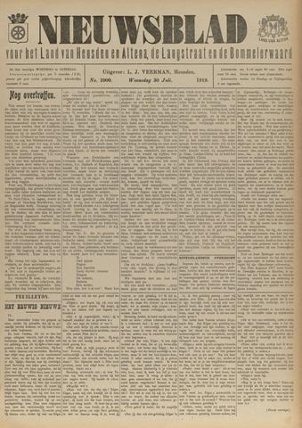 Nieuwsblad het land van Heusden en Altena de Langstraat en de Bommelerwaard 1919-07-30