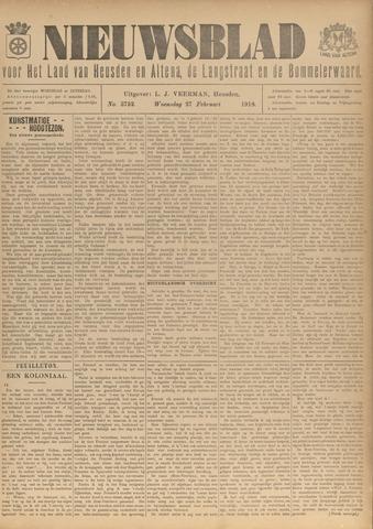 Nieuwsblad het land van Heusden en Altena de Langstraat en de Bommelerwaard 1918-02-27