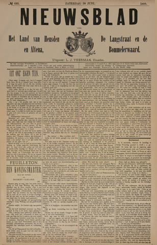Nieuwsblad het land van Heusden en Altena de Langstraat en de Bommelerwaard 1888-06-30