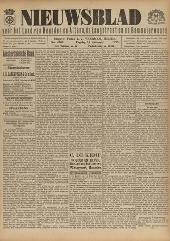 Nieuwsblad het land van Heusden en Altena de Langstraat en de Bommelerwaard 1923-02-16