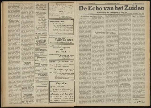 Echo van het Zuiden 1947-10-02