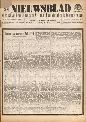 Nieuwsblad het land van Heusden en Altena de Langstraat en de Bommelerwaard 1922-03-25