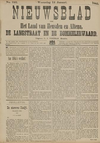 Nieuwsblad het land van Heusden en Altena de Langstraat en de Bommelerwaard 1885-01-14