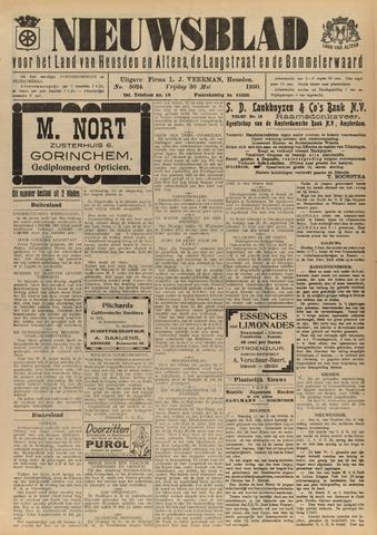 Nieuwsblad het land van Heusden en Altena de Langstraat en de Bommelerwaard 1930-05-30