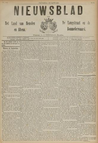Nieuwsblad het land van Heusden en Altena de Langstraat en de Bommelerwaard 1891-01-10