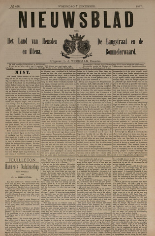 Nieuwsblad het land van Heusden en Altena de Langstraat en de Bommelerwaard 1887-12-07