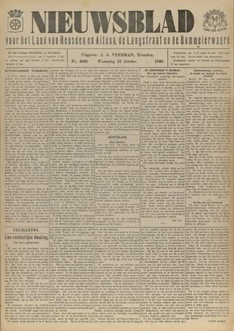 Nieuwsblad het land van Heusden en Altena de Langstraat en de Bommelerwaard 1920-10-13