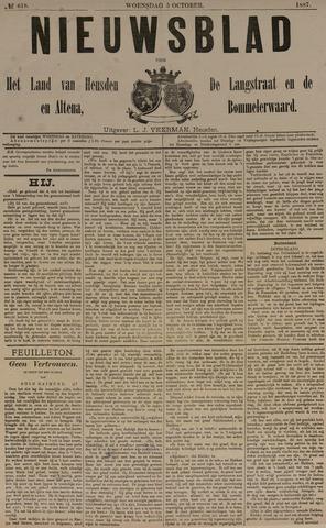 Nieuwsblad het land van Heusden en Altena de Langstraat en de Bommelerwaard 1887-10-05