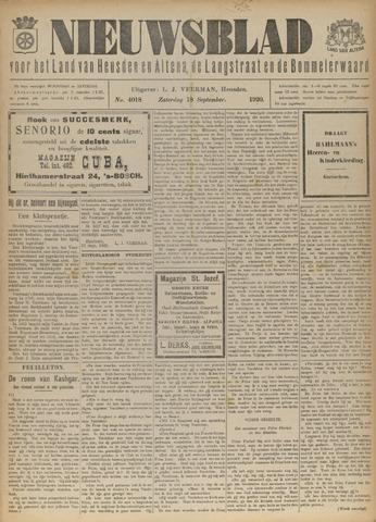 Nieuwsblad het land van Heusden en Altena de Langstraat en de Bommelerwaard 1920-09-18